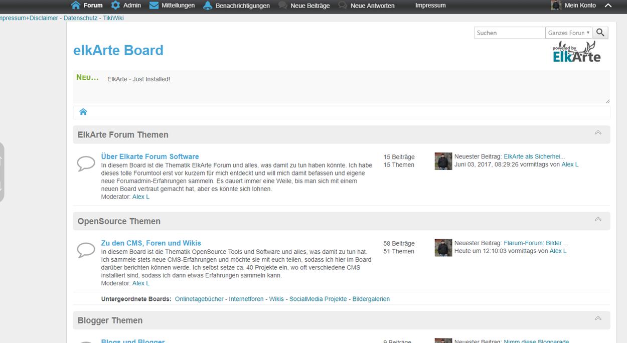 Upgrade auf ElkArte Forum Version 1.1 RC1 noch nicht empfehlenswert