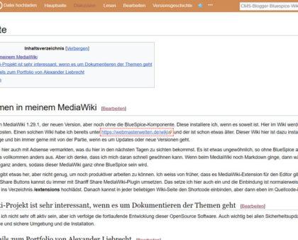 MediaWiki 1.29.1 draussen - wegen zweierlei Extensions das Upgrade