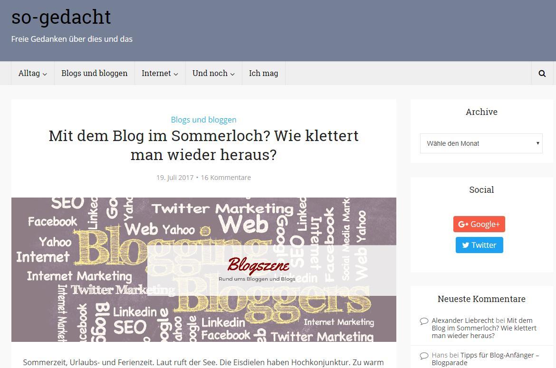 Blog-Kommentare-Runde mit Internetblogger.de vom 06.08.2017
