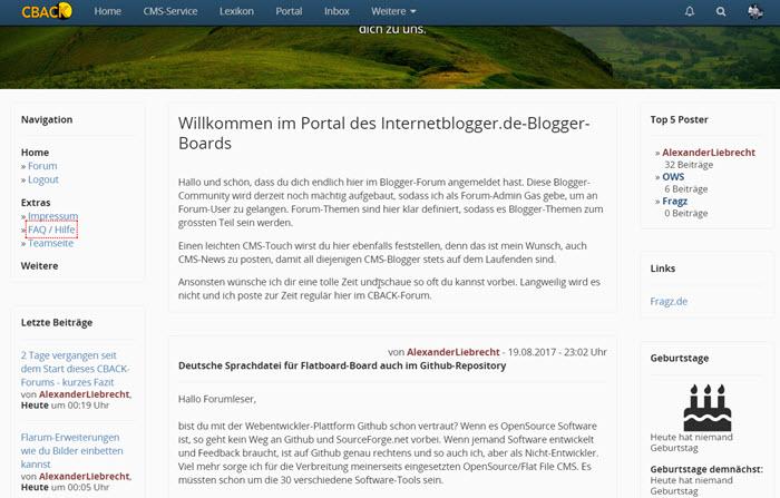 CBACK-Blogger-Community auf dem Internetblogger.de