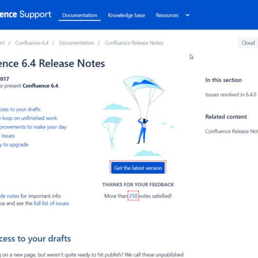 Confluence Server 6.4.0 erschienen - Bugfixes und neue Features