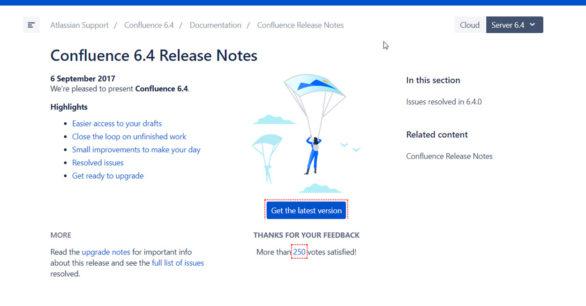 Confluence Server 6.4.0 erschienen – Bugfixes und neue Features