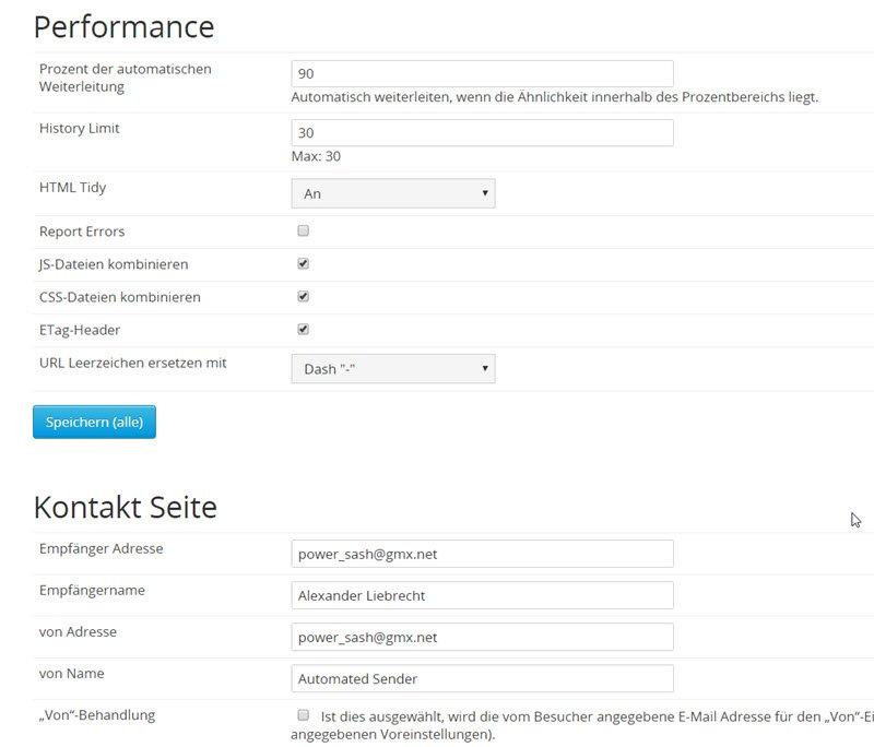 typesetter-cms-einstellungen-performace-kontaktformular