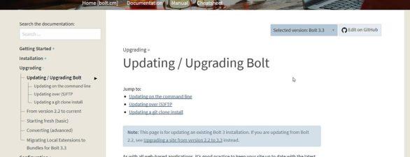 Wie du Bolt CMS mittels Kommandozeile updaten/upgraden kannst