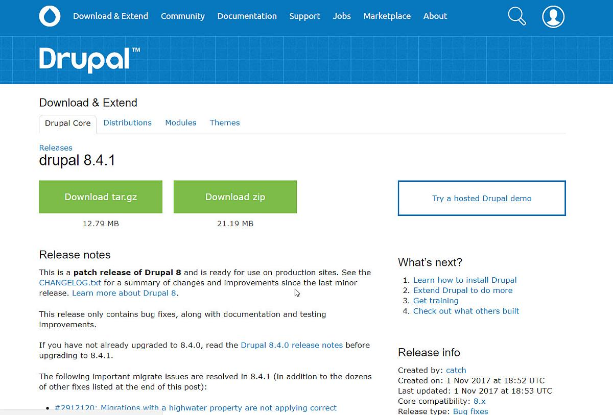 Drupal 8 CMS auf Version 8.4.1 aktualisieren - wie geht das + Youtube-Video