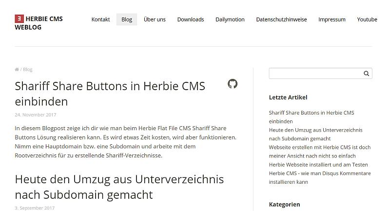 herbie-flat-file-cms-im-frontend