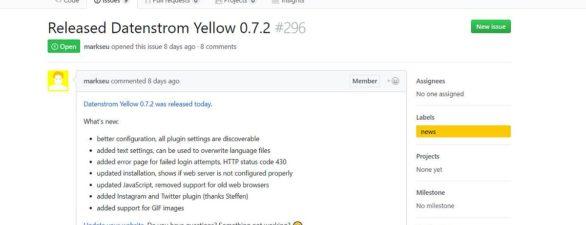 Yellow 0.7.2 CMS Update draussen
