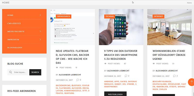 Internetblogger.de als Hauptblog auf Startseite