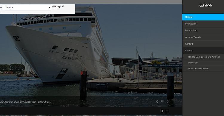 Zenphoto Frontend Webseite