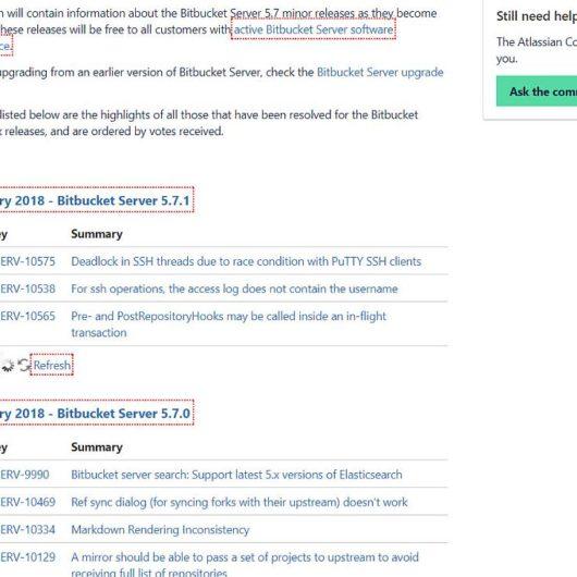 Bitbucket Server v5.7.1 Update erschienen - Fehlerbehebungen