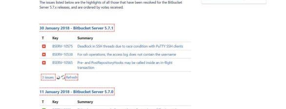 Bitbucket Server v5.7.1 Update erschienen – Fehlerbehebungen