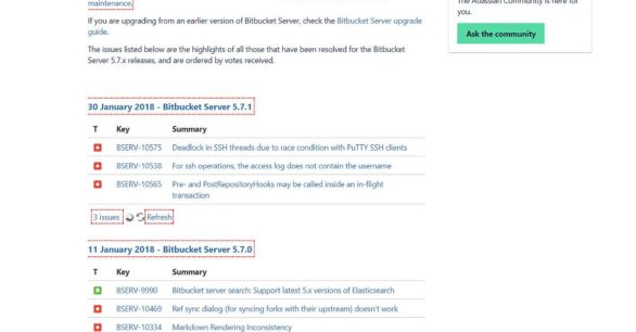 Bitbucket Server v5.7.1 Update erschienen – Fehlerbehebungen