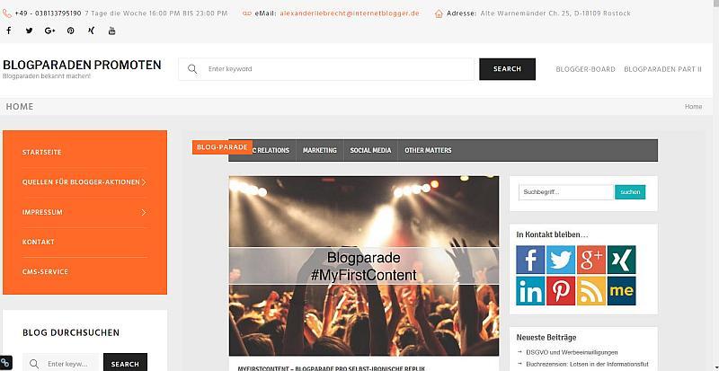 Blogparaden.eu Startseite