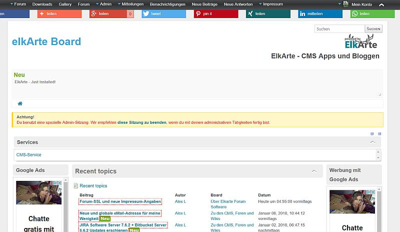 ElkArte Forum in Version 1.0.11 im Frontend
