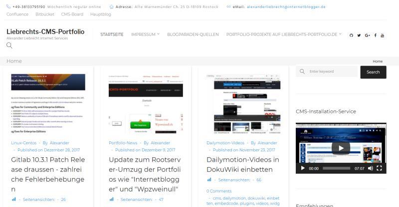 Liebrechts-portfolio.de im Frontend