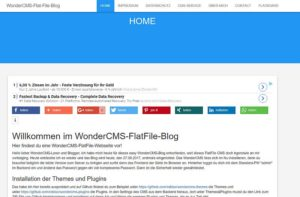 wondercms-flat-file-blog-frontend
