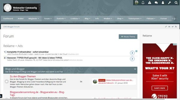 """Yaf-forums.de mit Premium Style """"Metro"""" von CLS-Design"""