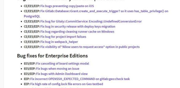 Gitlab Server 10.4.2 Fehlerbehebungsupdate erschienen – Update gelungen