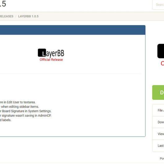 LayerBB 1.0.5 Forum Update erschienen - Bugfixes und Neuerungen