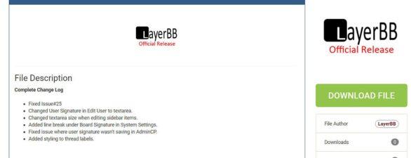 LayerBB 1.0.5 Forum Update erschienen – Bugfixes und Neuerungen