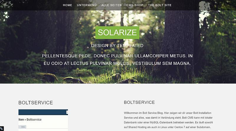 Bolt Theme Solarize