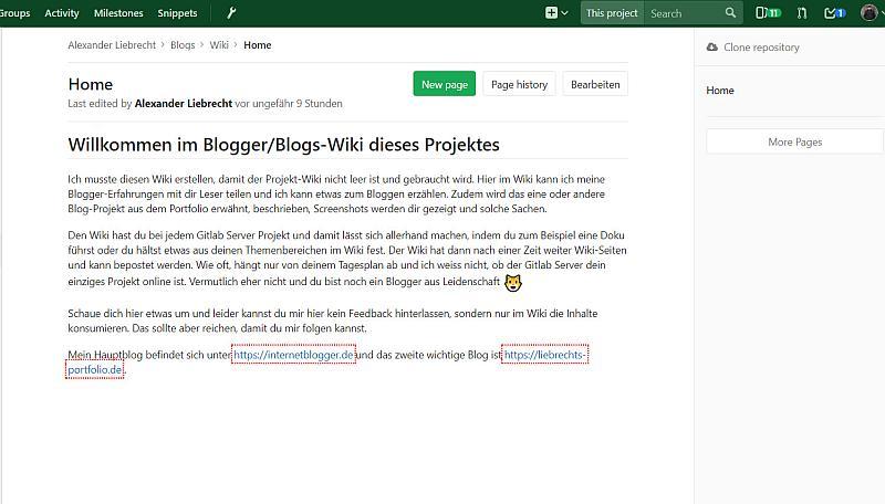 Wiki in Gitlab Server