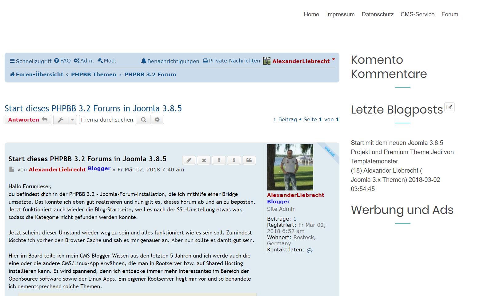 Projekte von Alexander Liebrecht - Blogs, Foren, Wikis, Portale