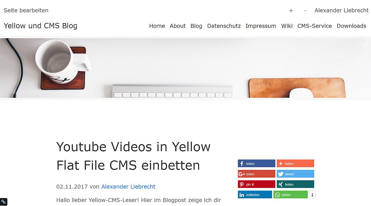Yellow 0.7.3 CMS Update mit neuen Funktionen draussen