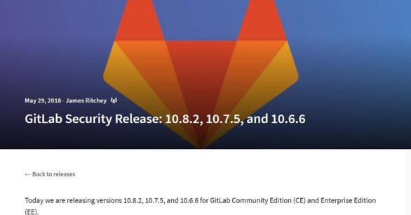 Gitlab Server v10.8.2 Sicherheitsupdate draussen – dringend updaten!