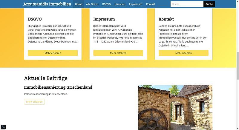 Bolt Webseite mit Design Nr. 2