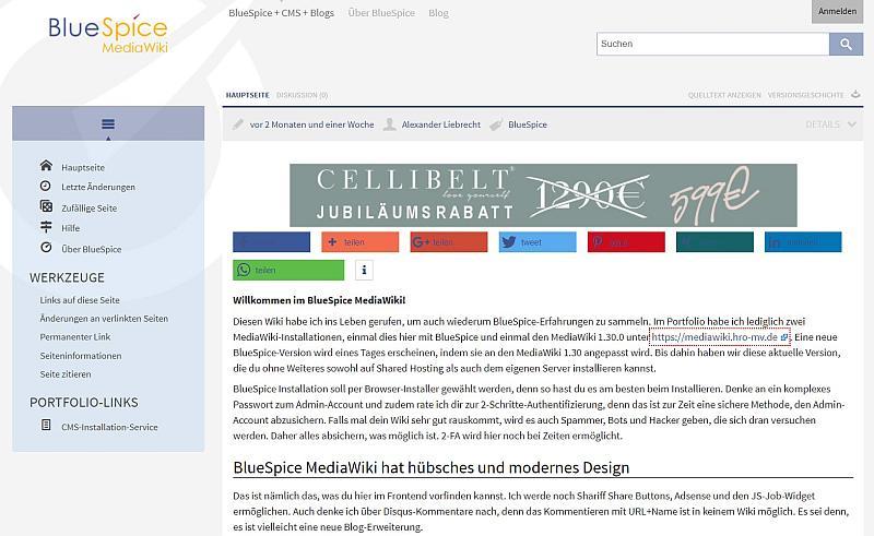 BlueSpice MediaWiki auf Apps-tools-cms.de