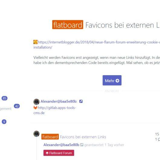 Favicons bei externen Links im Flatboard Forum - wie geht das
