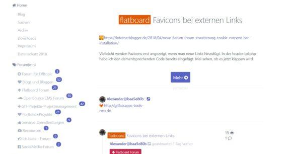Favicons bei externen Links im Flatboard Forum – wie geht das