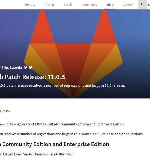 Gitlab Server App 11.0.3 Update erschienen mit Fehlerbehebungen