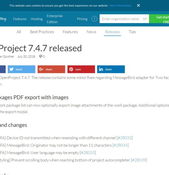 OpenProject v7.4.7 mit Fehlerbehebungen erschienen – Updaten funktioniert gut