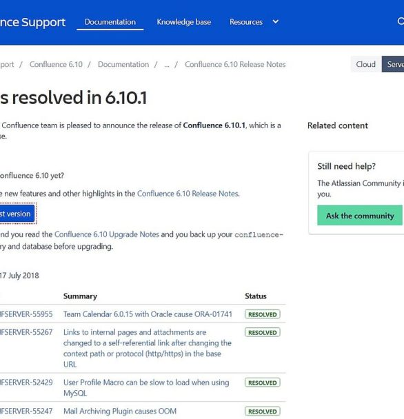 Atlassian Updates: Confluence, Bitbucket, JIRA Software, JIRA Service Desk