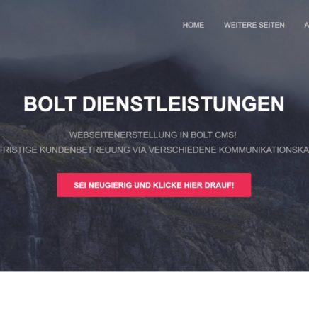 Webseitenerstellung - Bolt