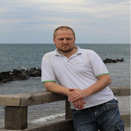 Alexander Liebrecht an der nördlichen Ostsee