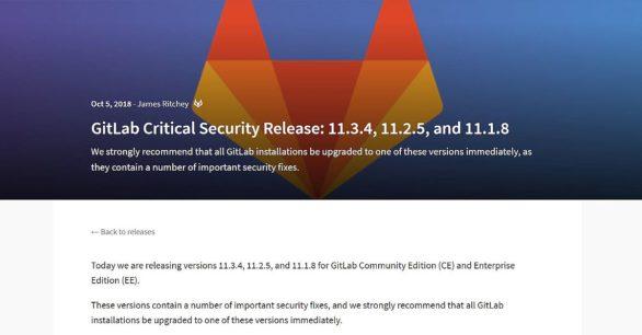 Kritisches Sicherheitsupdate des Gitlab Servers – v11.3.4