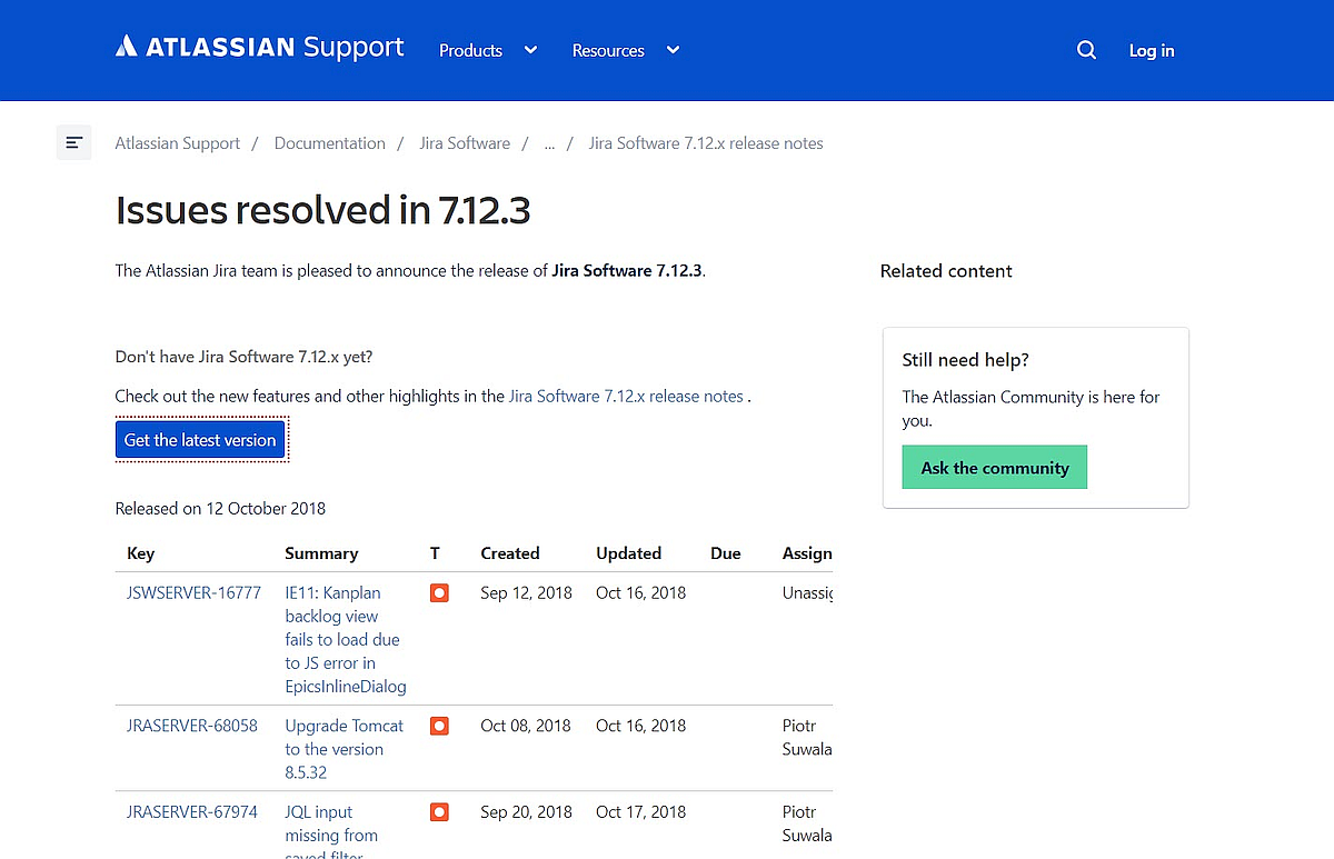 Neue Updates: JIRA, JIRA Service Desk, JIRA Core und Bitbucket Server