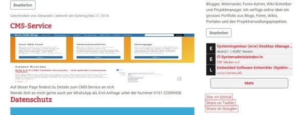 Bolt CMS Angebot: Webseitenerstellung und Webdesign ab 150-500 EUR inkl. MwSt.