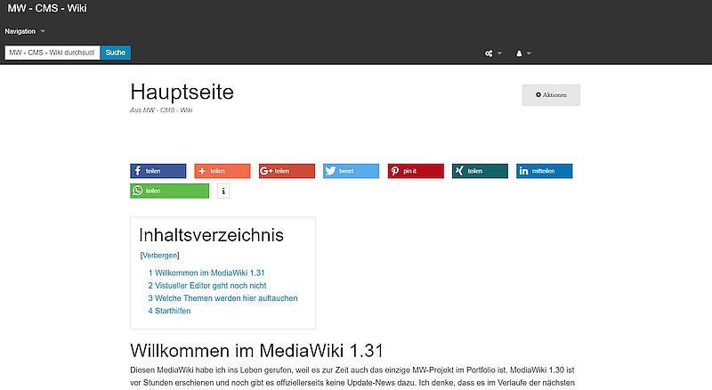 MediaWiki-Installation in SharedHosting oder unter Linux(Centos 7.5) OS